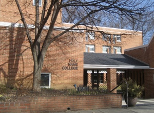 The entrance of Holy Name College in Silver Spring, Md., where the majority of Holy Name Province's student friars now reside.