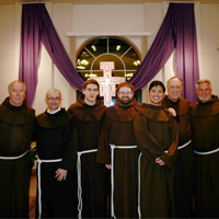Br. Casey Cole, third from left, and his classmates