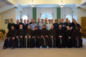 The postulants attend a Franciscan Community workshop at the Franciscan Interprovincial Novitiate in Burlington, Wis.