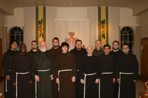 Abraham poses with his classmates at the Franciscan Interprovincial Novitiate