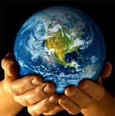 Hand Holging Globe