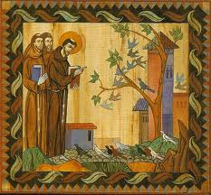 St. Francis with Followers in Front of Tree