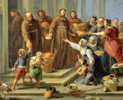 St. Anthony and Friars Feeding Bread to the Poor