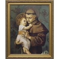 St. Anthony Holding Infant Jesus - Nice Portrayal